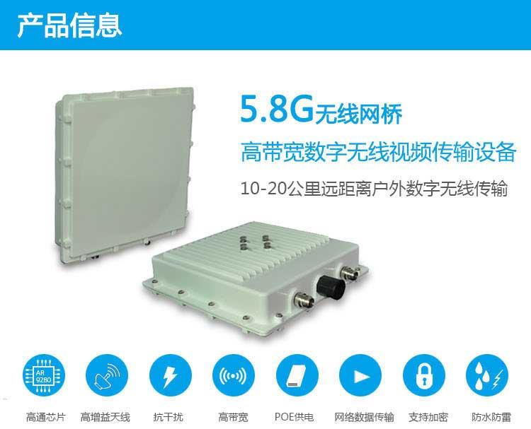 5.8G数字无线网桥