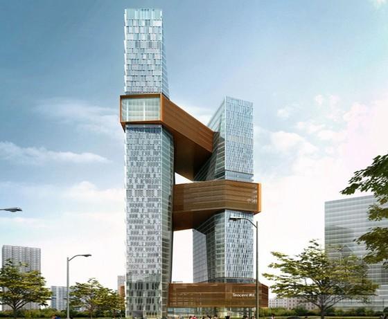 腾讯新总部大楼概念图