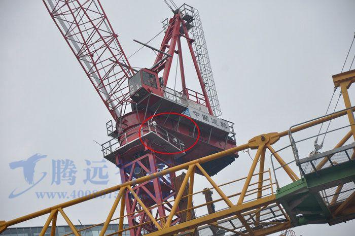 安装在塔吊上的无线监控摄像头