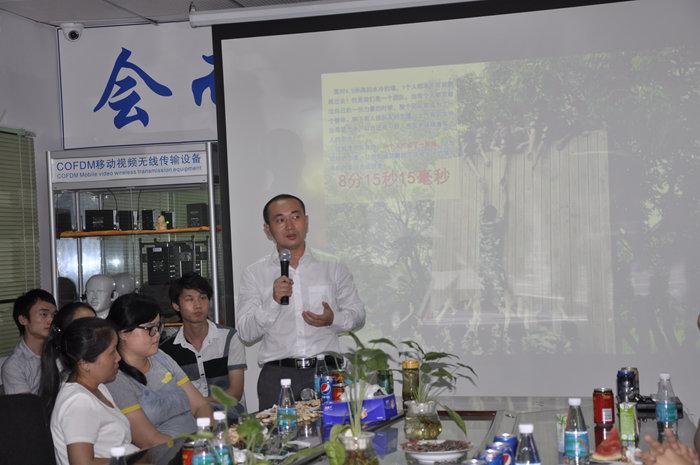 茶话会主持人刘总对拓展训练的总结和感受分享