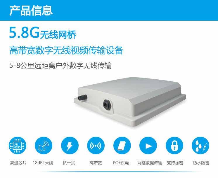 5.8G数字无线网桥ST58T8G