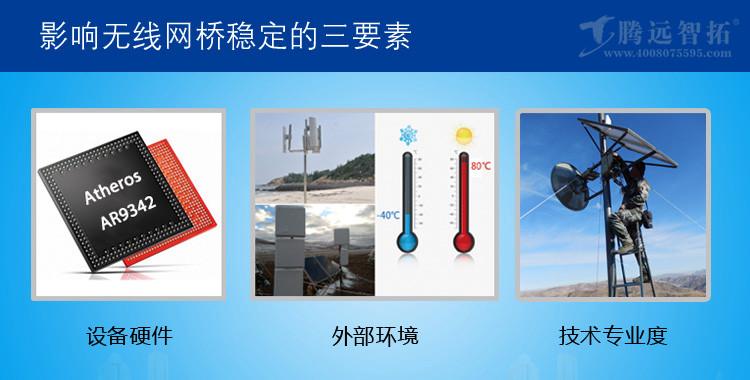 影响无线网桥稳定性的3点因素