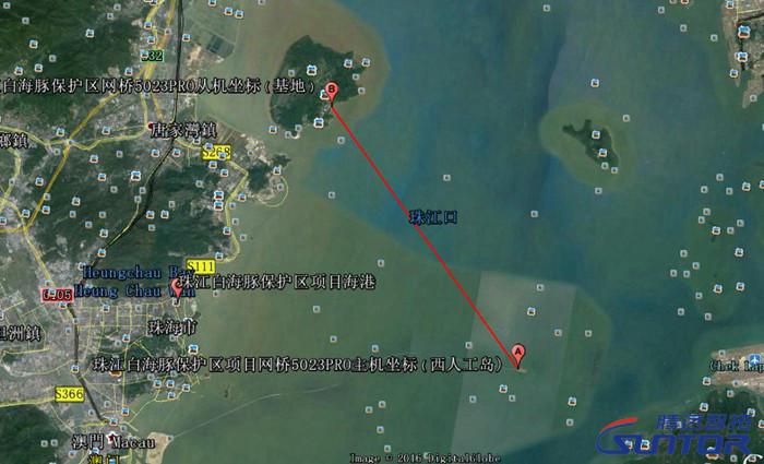 白海豚自然保护区卫星点位图