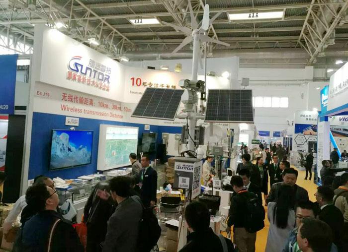 北京安博会参展风光互补供电系统