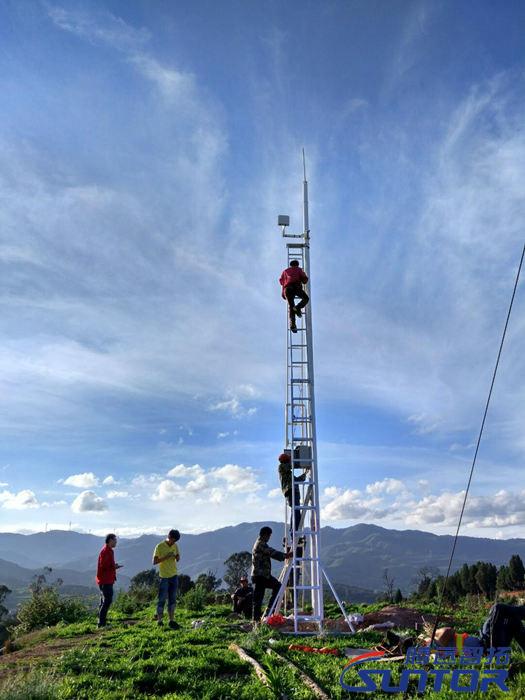 安装无线网桥和监控设备