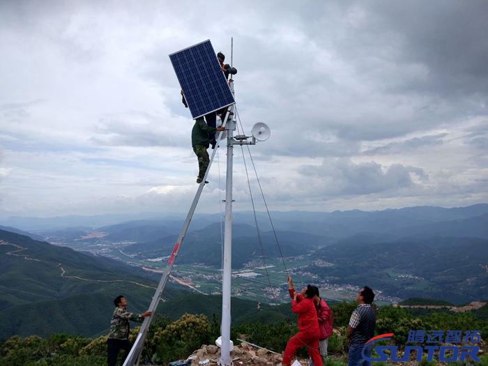 安装太阳能发电板