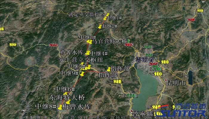 高速公路施工现场监控点位图