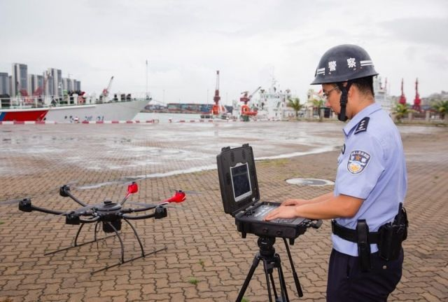 设定COFDM无人机巡逻监控系统路线和模式