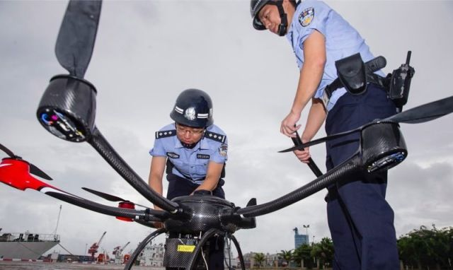 COFDM无人机高空巡逻远程监控系统