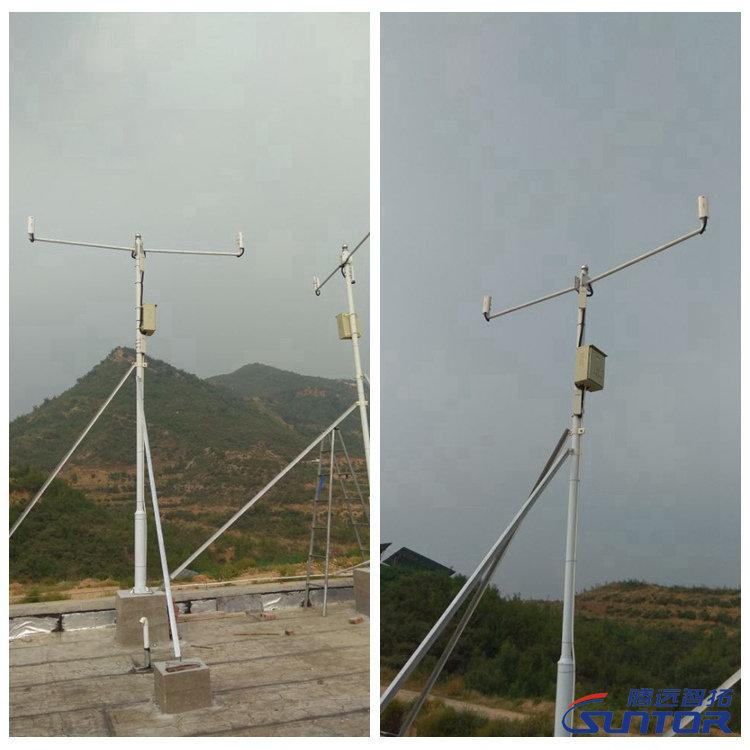 搭建完毕的无线监控传输设备