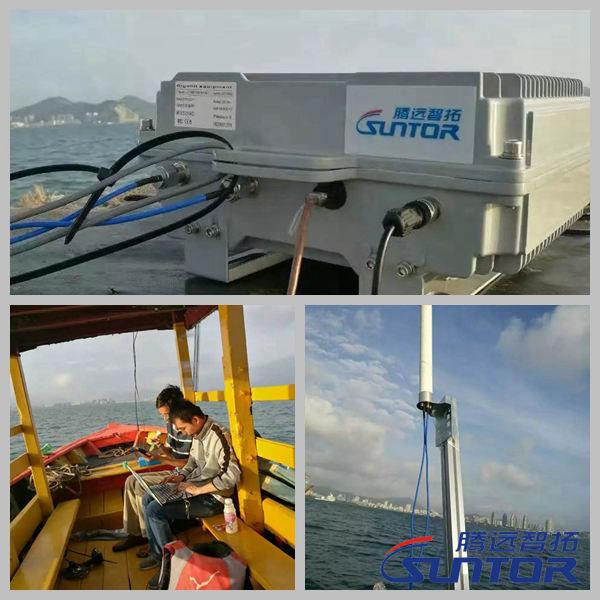 某海域海洋科研无线数据传输测试