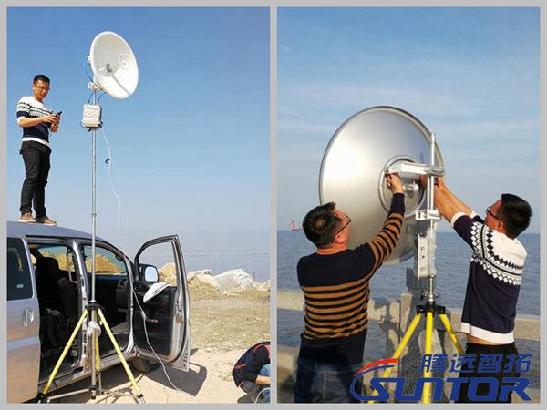 海边30公里无线传输测试