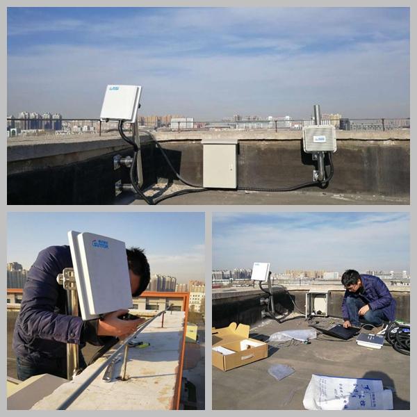无线监控项目安装现场