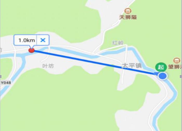 1公里距离