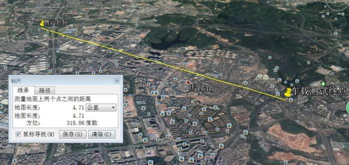 测试路线卫星图