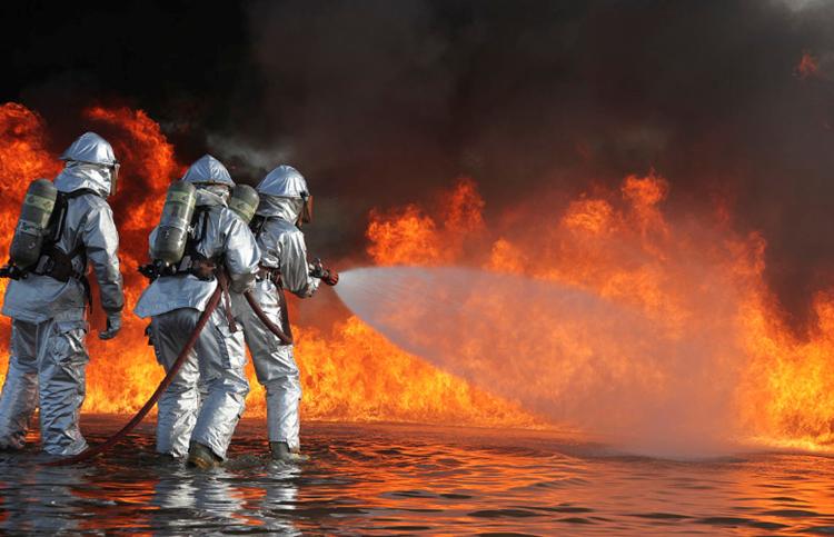 消防救援现场