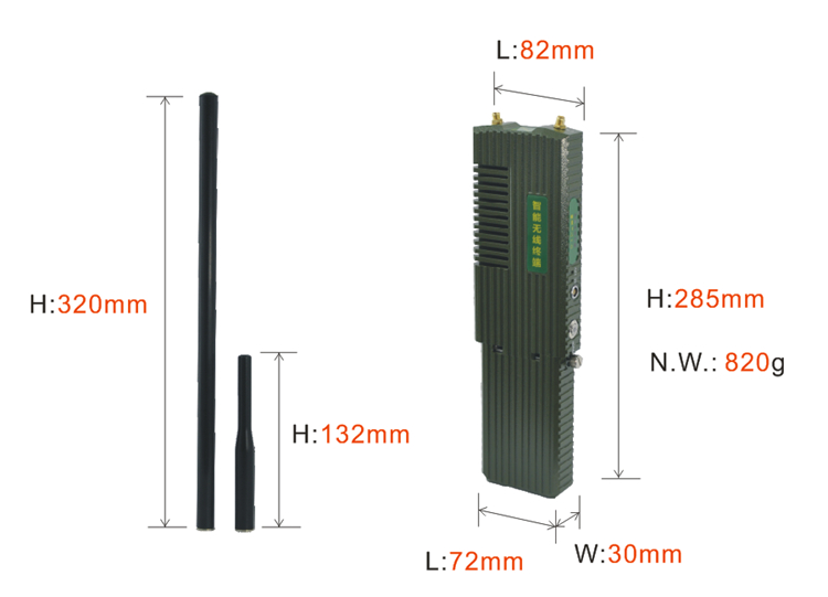 手持mesh无线传输设备尺寸图1