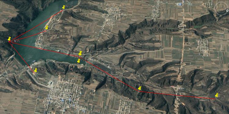 林皋慢城旅游区监控点位分布图