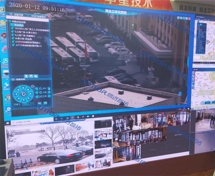 监控中心无线传输效果展示图