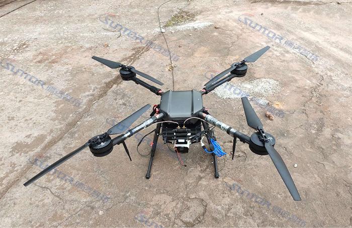Mesh无线自组网无线传输设备应用于无人机上