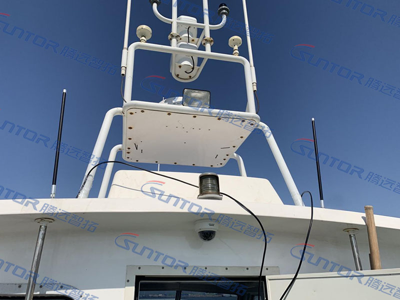山东青岛海域子母船海上无线传输案例